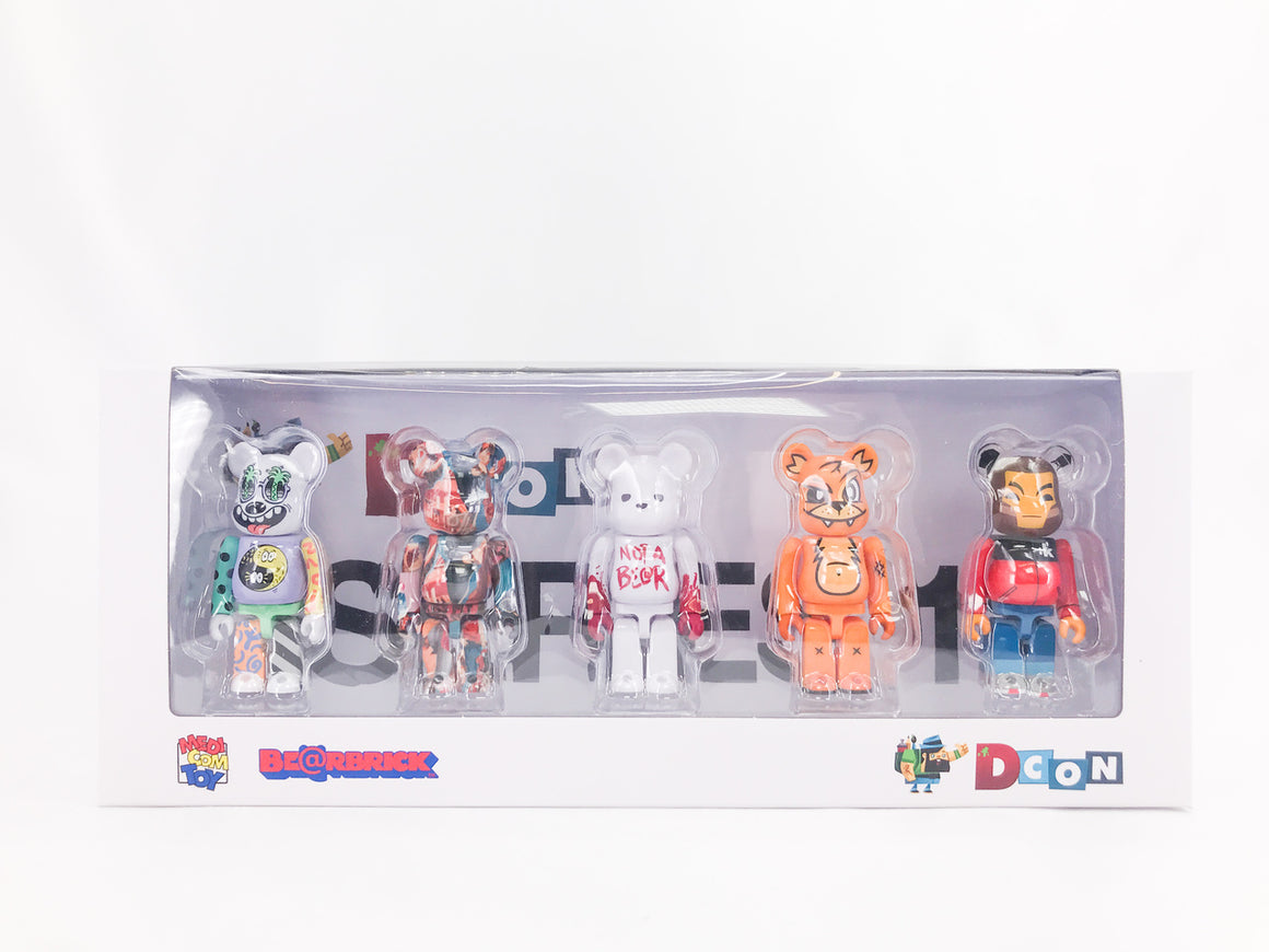 DCON 2019 Designer Con 100% Artist Bearbrick Set by Medicom Toy