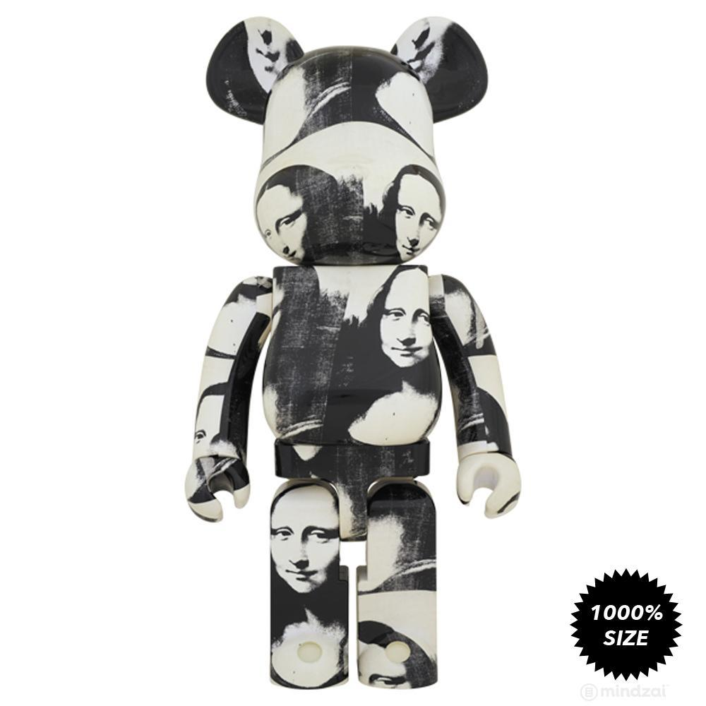 Andy Warhol Double Mona Lisa 1000% Bearbrick by Medicom Toy - Pre-order