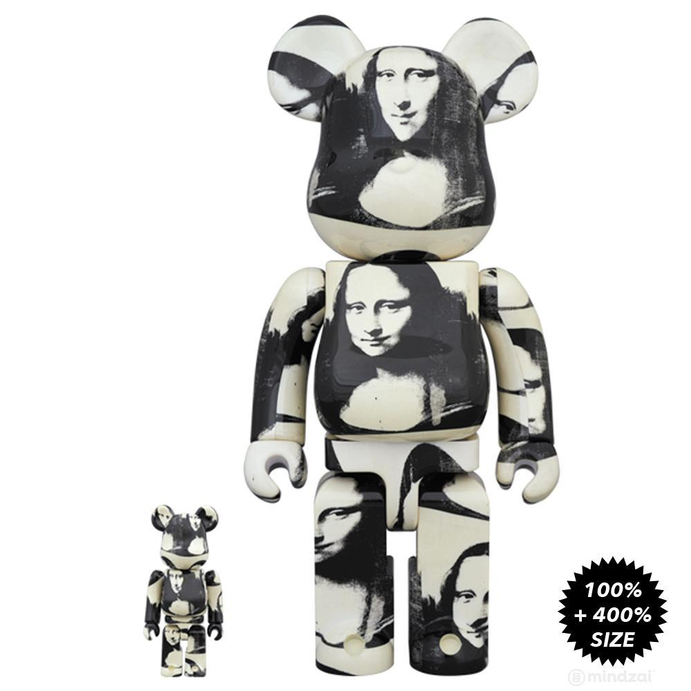 Andy Warhol Double Mona Lisa 100% + 400% Bearbrick Set by Medicom Toy - Pre-order