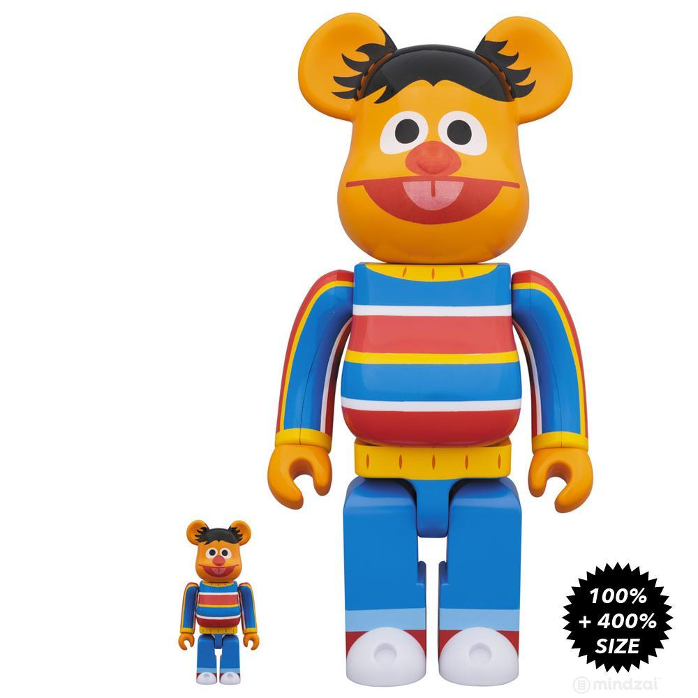 Sesame Street Ernie 100% + 400% Bearbrick Set by Medicom Toy