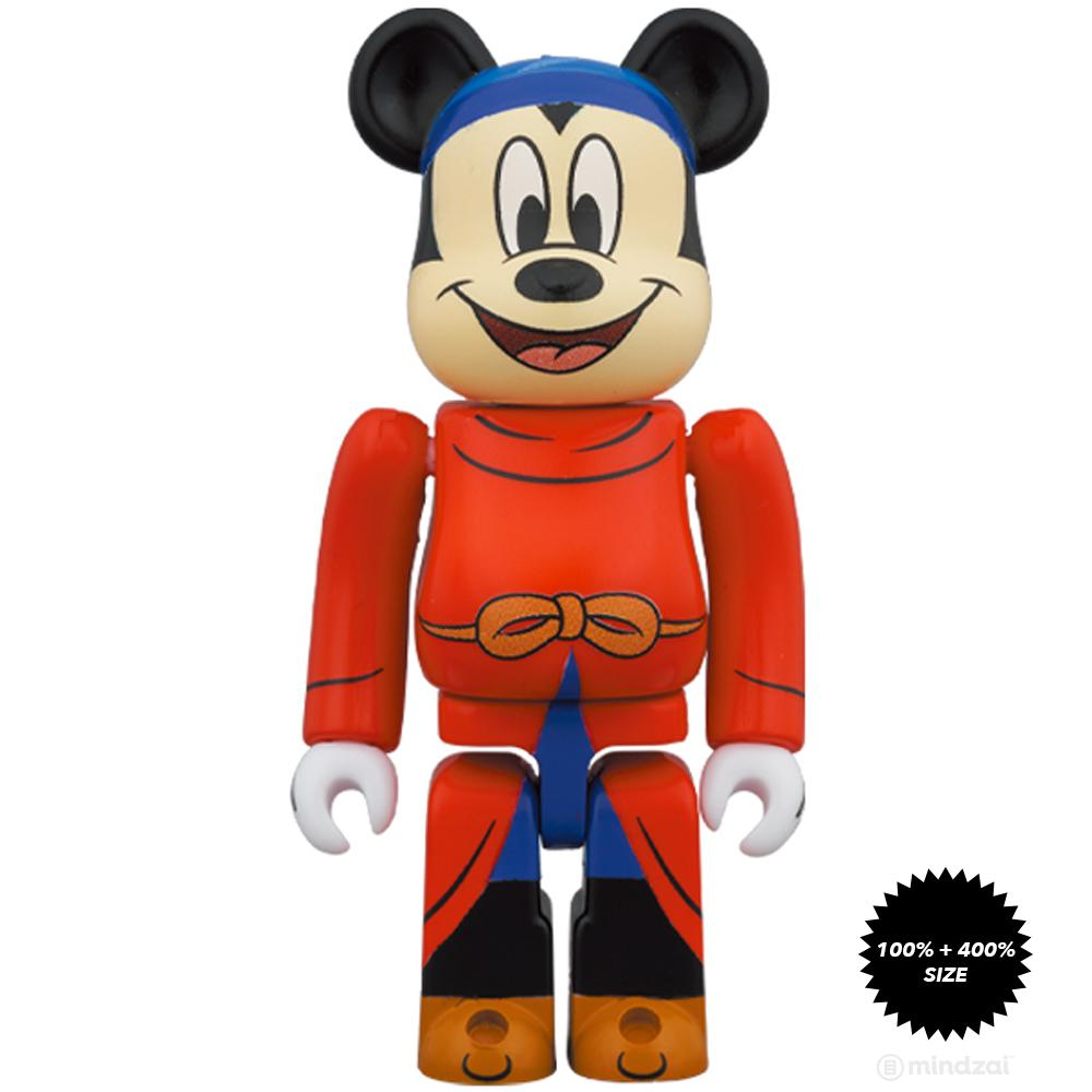 *Pre-order* Fantasia Mickey 100% + 400% Bearbrick Set by Medicom Toy