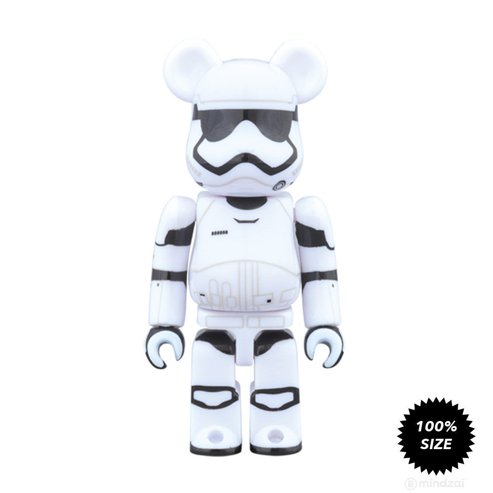 First Order Stormtrooper Bearbrick 100% by Medicom Toy x Star Wars