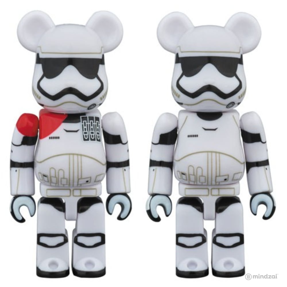 Star Wars Bearbrick: First Order Stormtrooper Officer & Stormtrooper 100% Figure 2-Pack Set by Medicom Toy