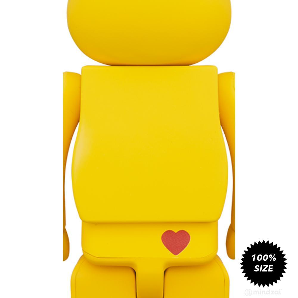 Care Bears Funshine Bear 100% Bearbrick by Medicom Toy
