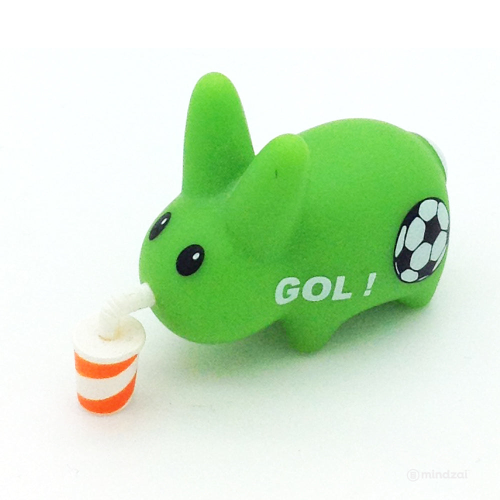 Personal Happiness Labbit Mini Series - Green Soccer Labbit with Drink