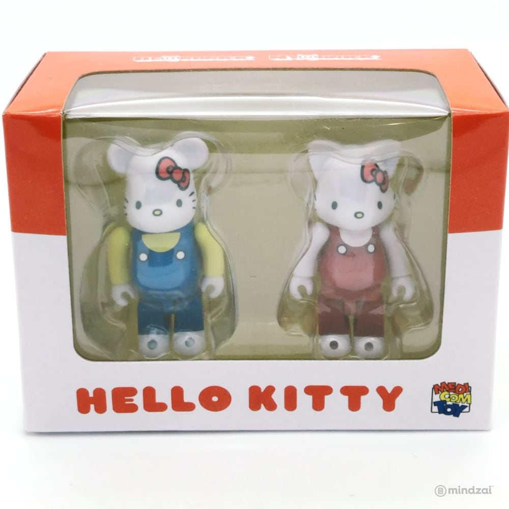Hello Kitty Bearbrick and Nyabrick 100% Figure 2-Pack Set by Medicom Toy