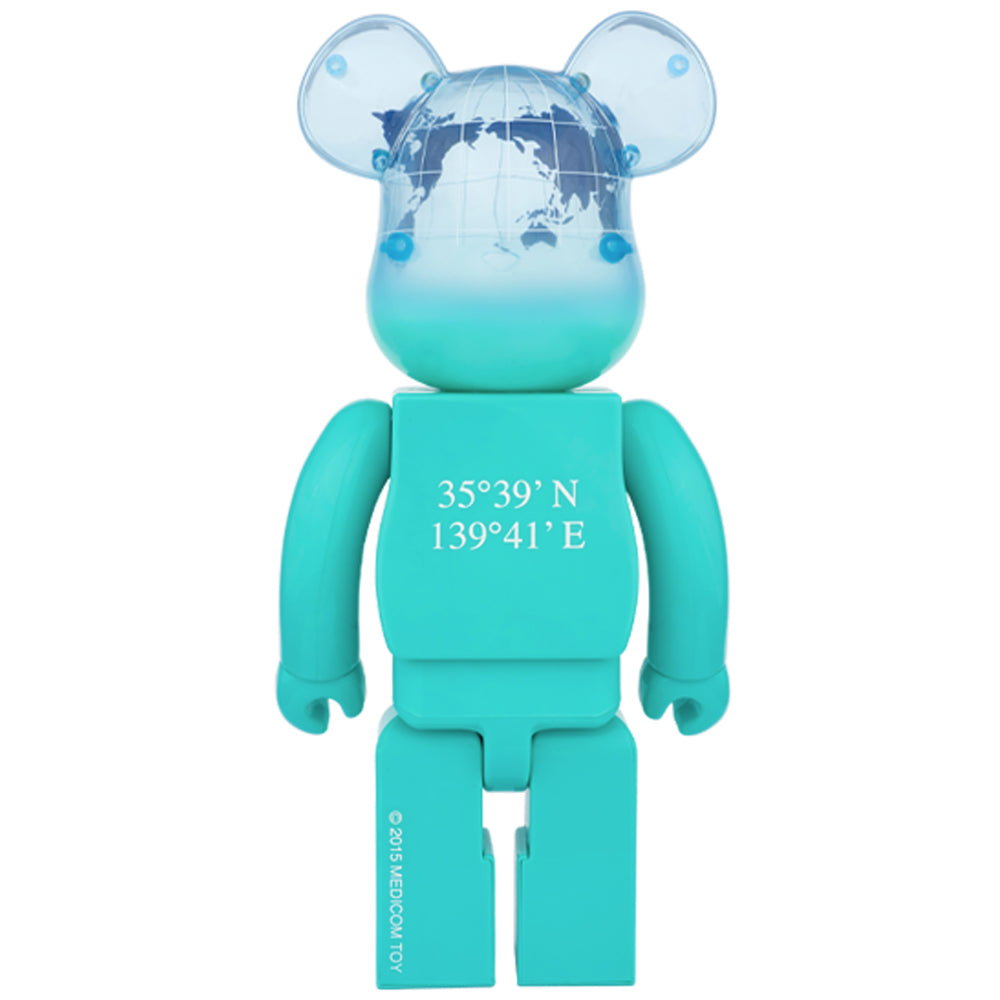 Earth (Ocean Blue Ver.) 400% Bearbrick by Medicom Toy x Project 1/6