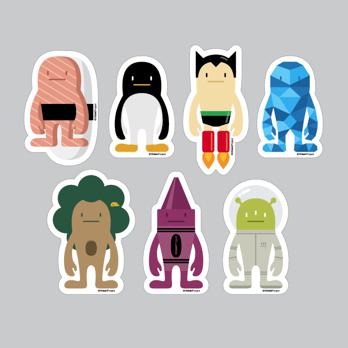 HidekiProject Sticker Pack Series 1 - Mindzai