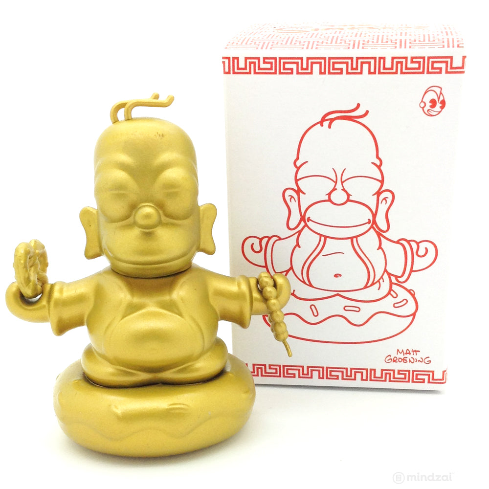 Homer Buddha 3 inch Mini figure The Simpsons x Kidrobot - Gold