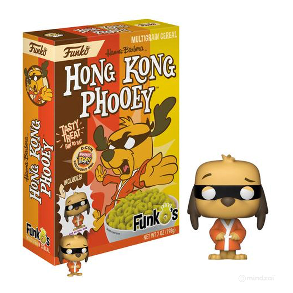 Funko's Cereal with Hong Kong Phooey Pocket POP! Designer Con ( DCON ) Exclusive