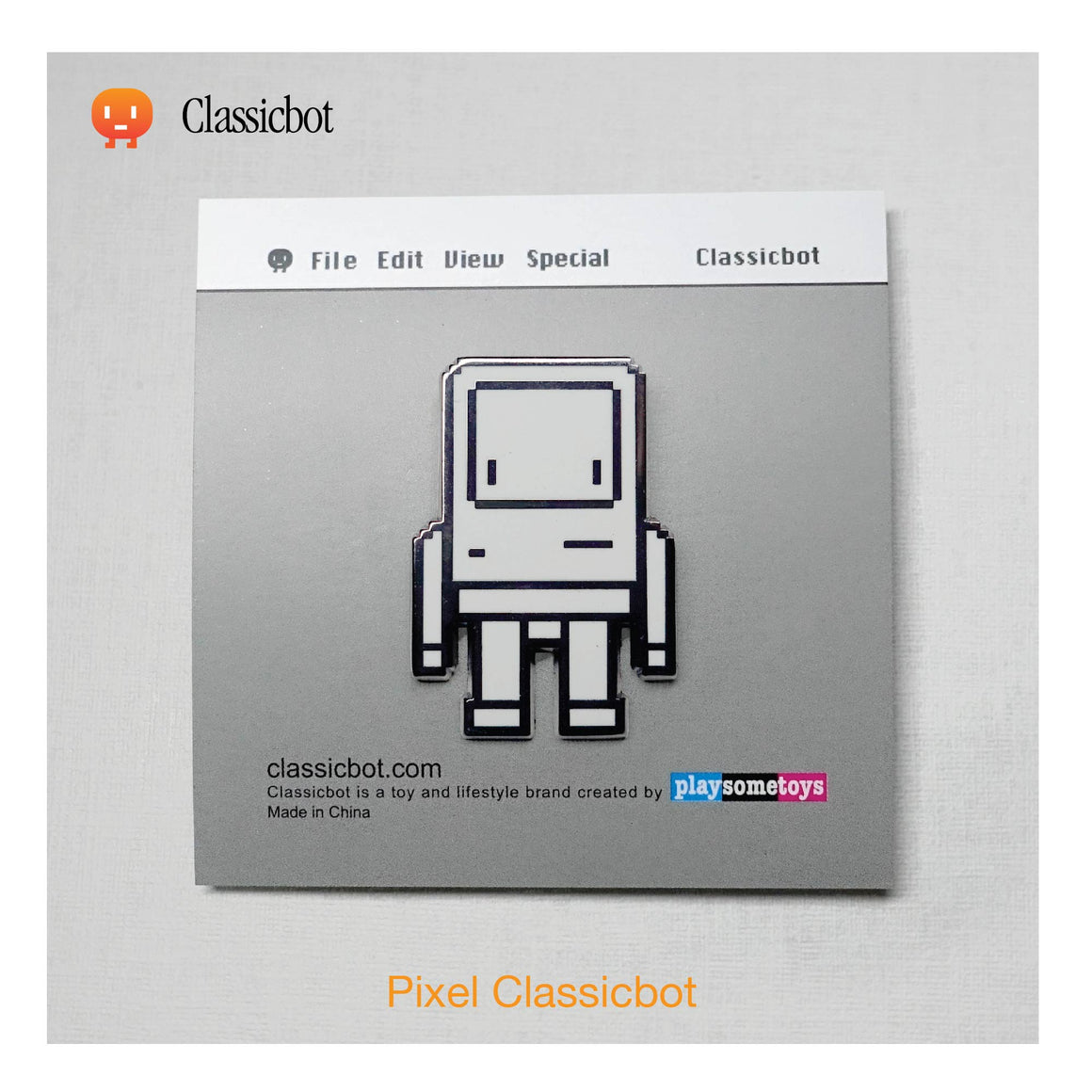 Pixel Classicbot Enamel Pin by Classicbot