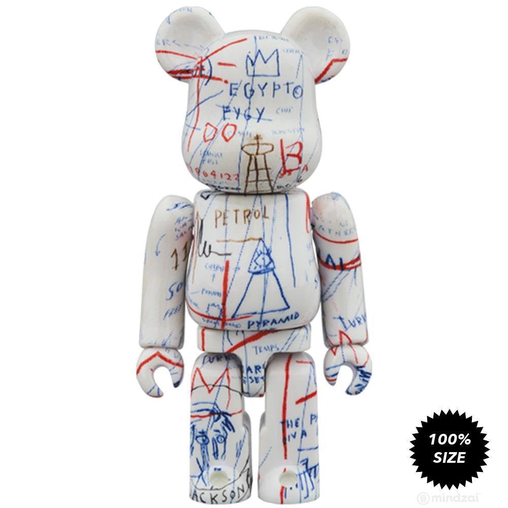 Jean-Michel Basquiat #2 100% + 400% Bearbrick Set by Medicom Toy