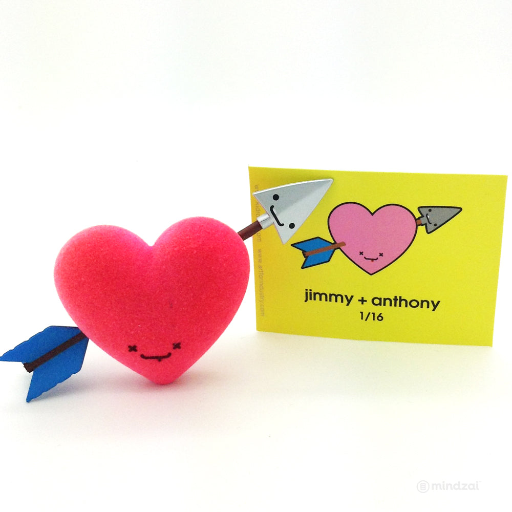 BFF Series by Travis Cain x Kidrobot - Jimmy + Anthony Heart and Arrow