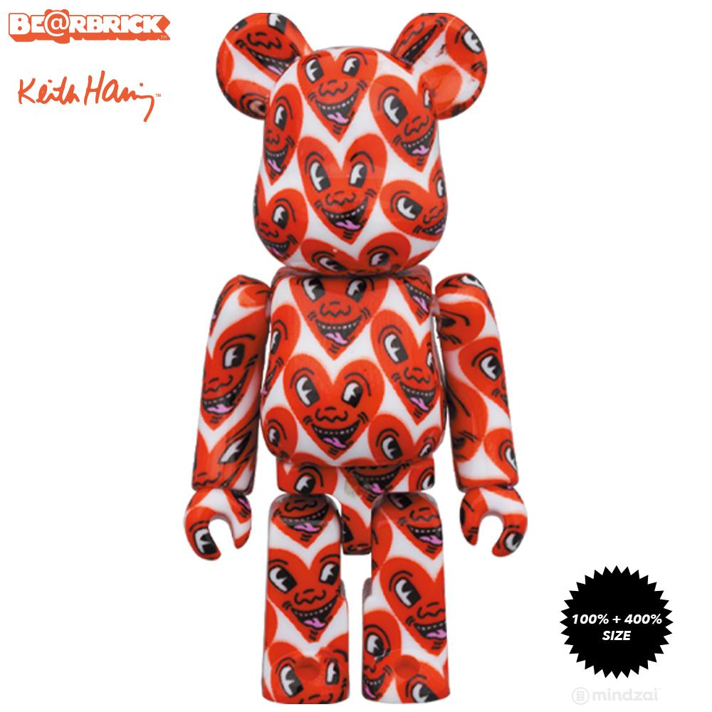 *Pre-order* Keith Haring #6 100% + 400% Bearbrick Set by Medicom Toy
