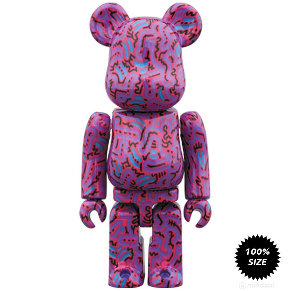 Keith Haring #2 100% + 400% Bearbrick Set by Medicom Toy