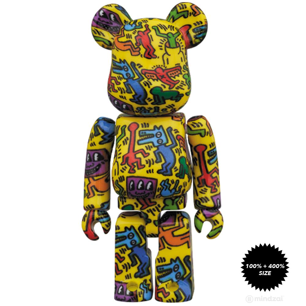 *Pre-order* Keith Haring #5 100% + 400% Bearbrick Set by Medicom Toy