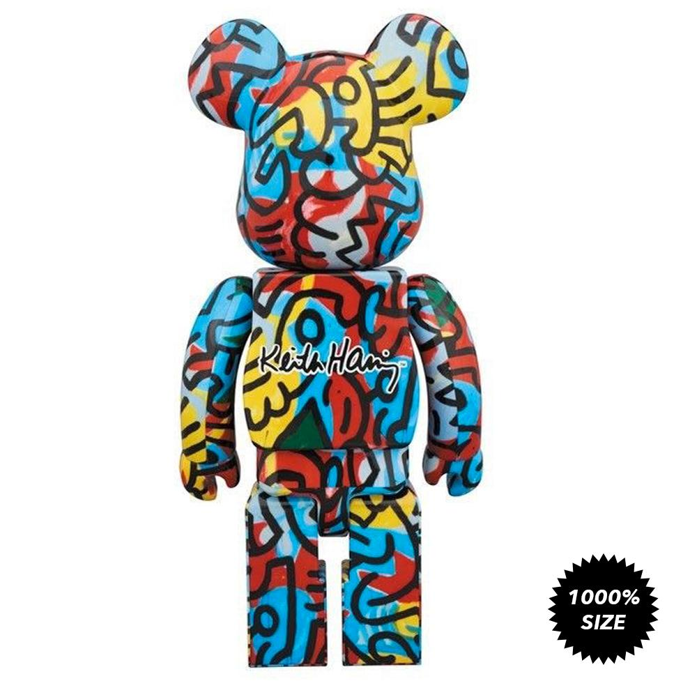 Keith Haring #3 Designer Con 1000% Bearbrick by Medicom Toy