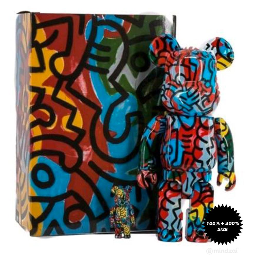 Keith Haring #3 Designer Con 100% and 400% Set Bearbrick by Medicom Toy