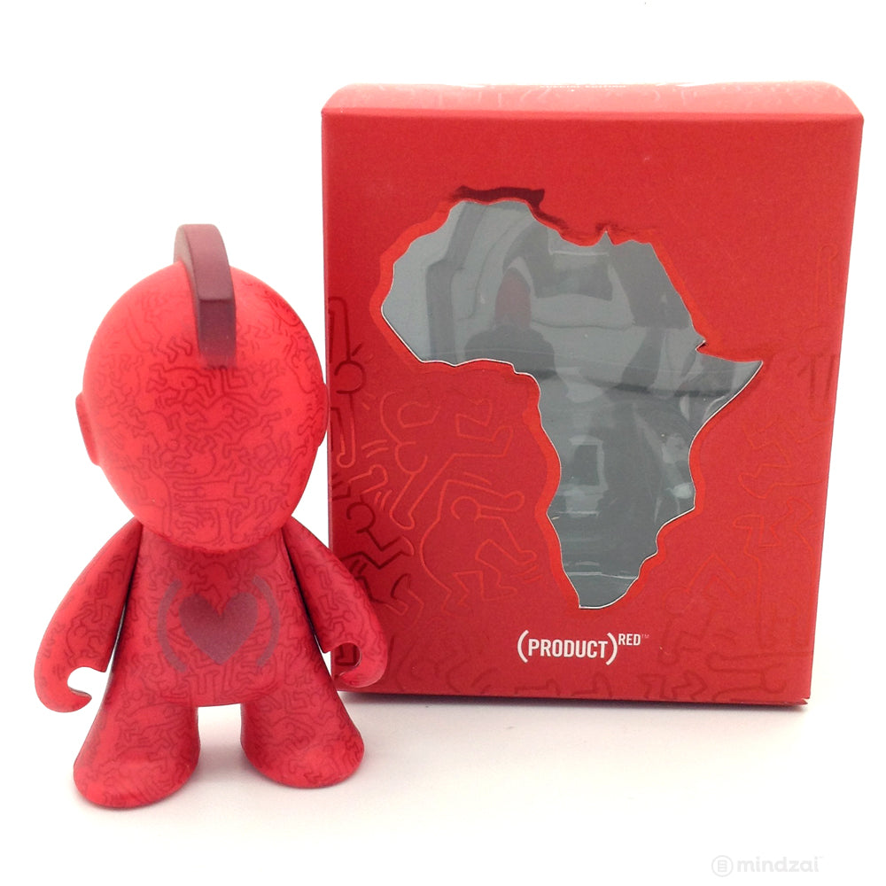 Red Special Edition Mascot by Keith Haring x Kidrobot