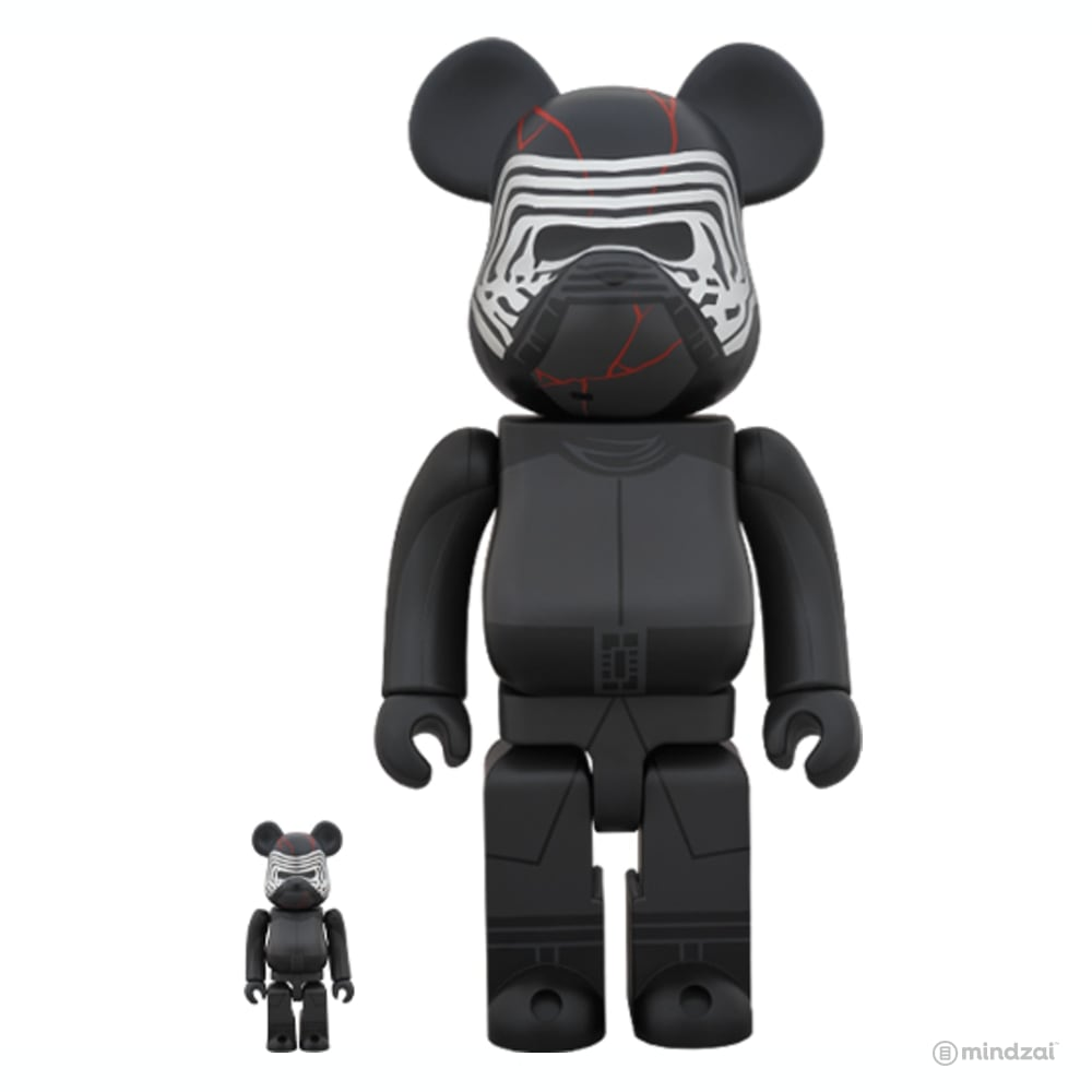 Star Wars: Kylo Ren (The Rise of Skywalker Ver.) 100% + 400% Bearbrick Set by Medicom Toy