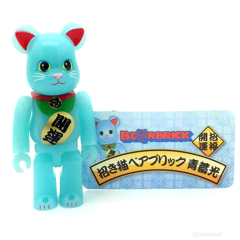 Bearbrick Series 33 -  Lucky Cat Blue (Animal)