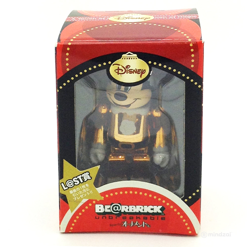 Disney Bearbrick Unbreakable - Special Kuji - Mickey Mouse Gold Santa Suit Version - Last Prize