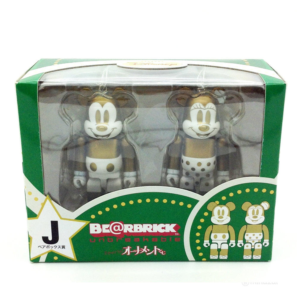 Disney Bearbrick Unbreakable Happy Kuji Set J - Mickey Mouse and Minnie Mouse 2-Pack G+W Version