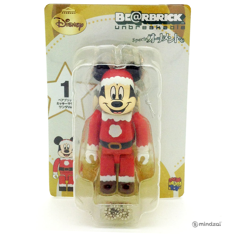 Disney Bearbrick Unbreakable - Happy Kuji #1 - Mickey Mouse Santa Suit