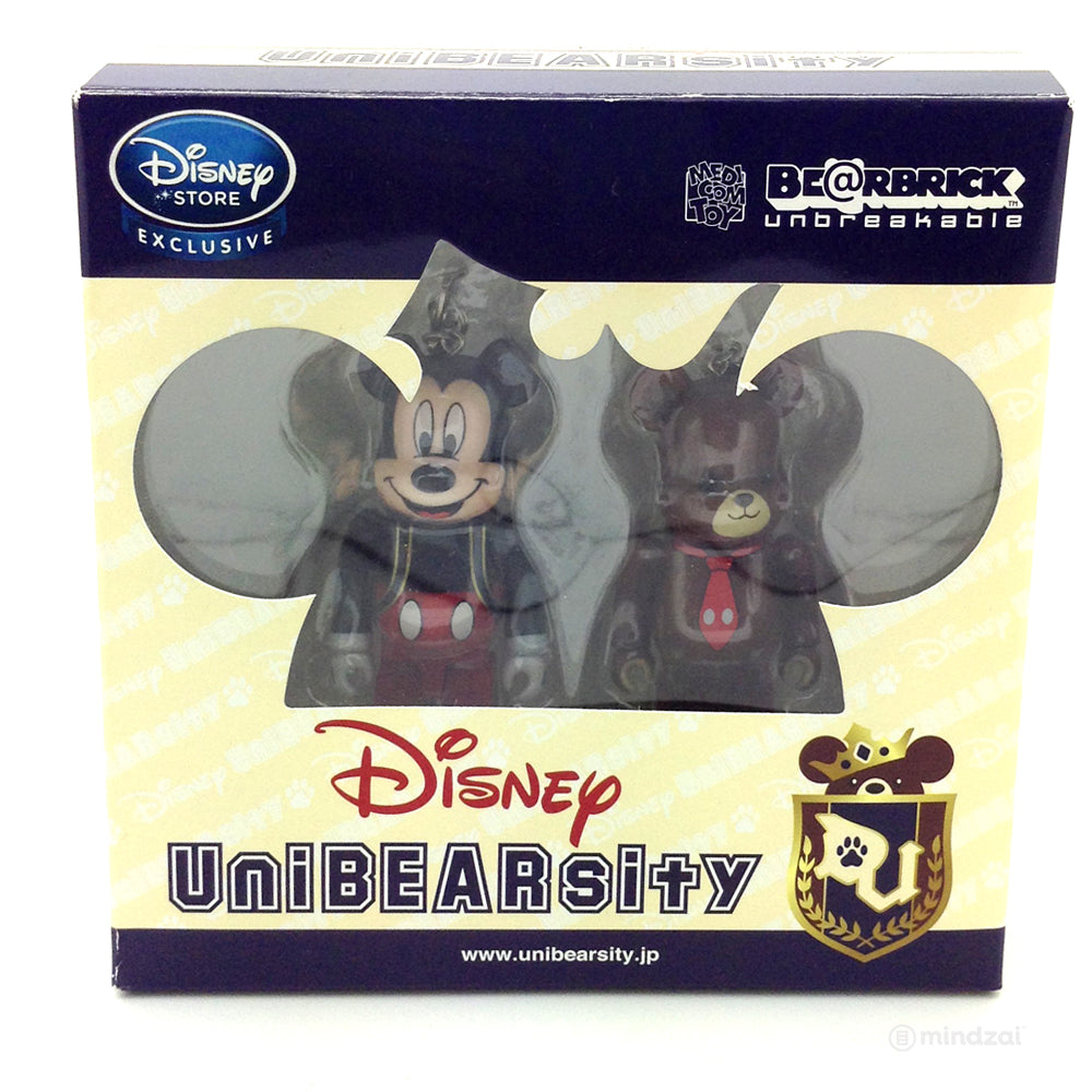 Disney Bearbrick Unbreakable - UniBearsity: Mickey Mouse and Mocha (2pk) - Disney Store Japan Exclusive