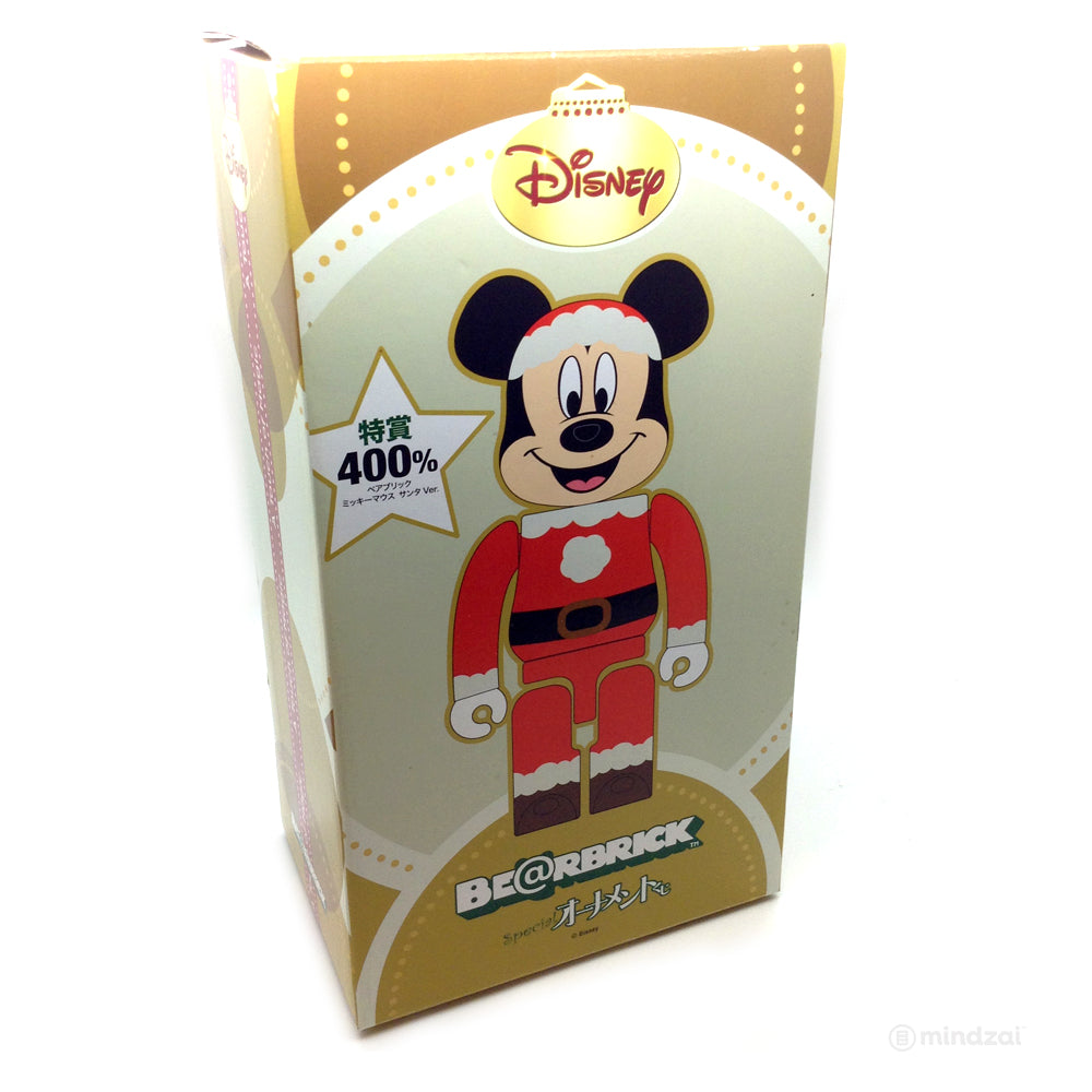 Disney x Special Kuji: Mickey Mouse Santa Suit Version 400% Bearbrick