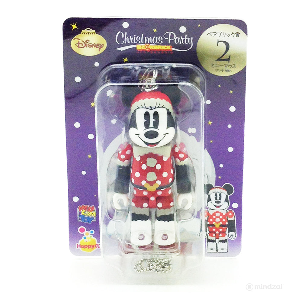 Disney Bearbrick Unbreakable - Happy Kuji # 2 - Minnie Mouse Santa Version 100% Size