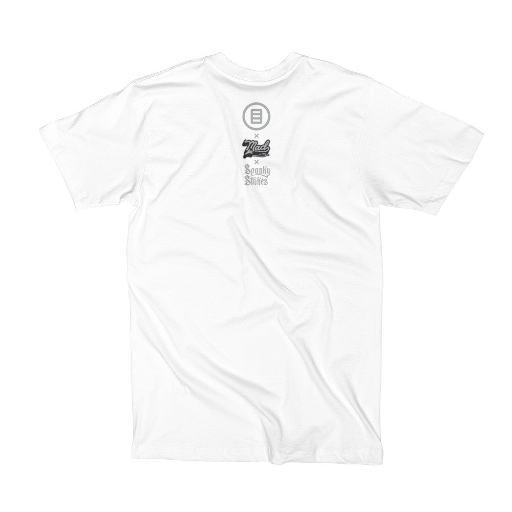 Stroll T-shirt by Mad Toy Design x Spanky Stokes x Mindzai - White