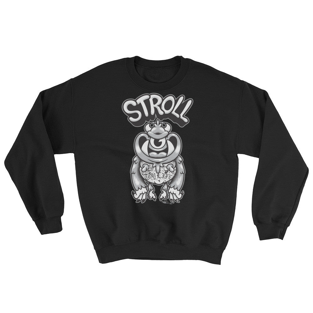 Stroll Crewneck Sweater by Mad Toy Design x Spanky Stokes x Mindzai - a5cf1e9e6