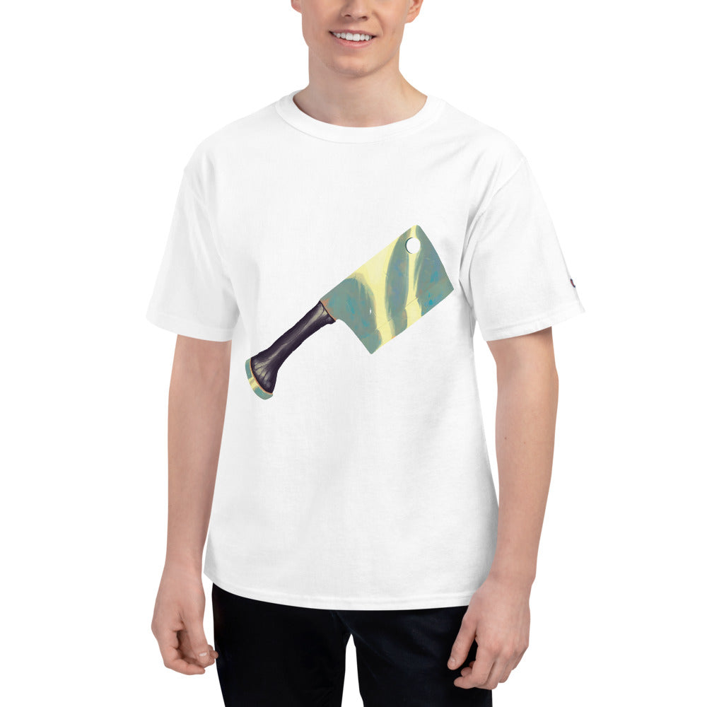 Lethal Taco Meat Cleaver White Champion T-shirt