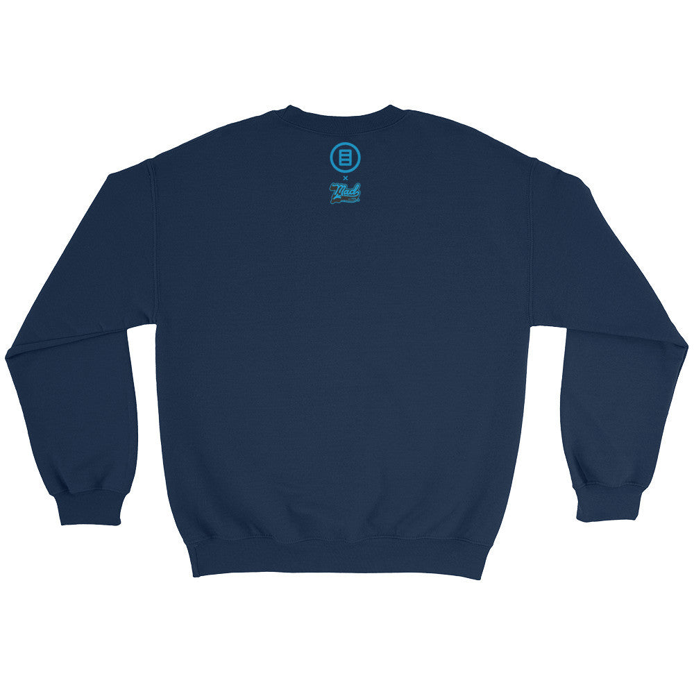 Creative King Crewneck Sweater by Mad Toy Design x Mindzai - Navy Blue