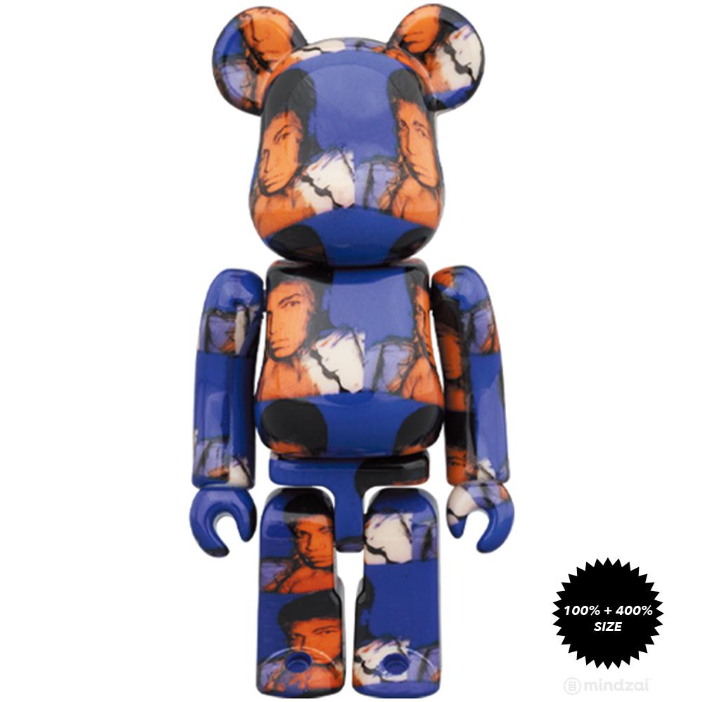 Andy Warhol Muhammad Ali 100% + 400% Bearbrick by Medicom Toy