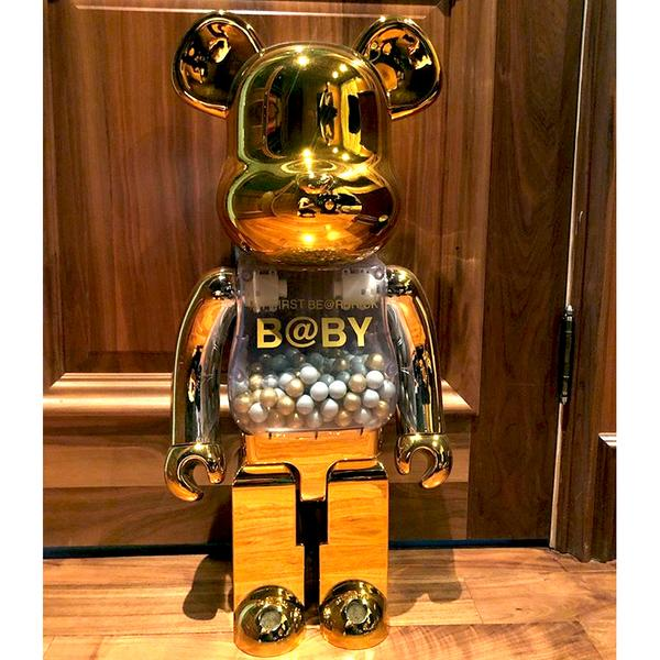 My First Baby Gold / Silver 1000%  Bearbrick by Medicom Toy (Pre-owned)