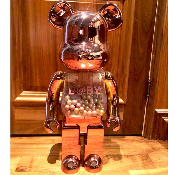 My First Baby Pink / Gold 1000%  Bearbrick by Medicom Toy (Pre-owned)