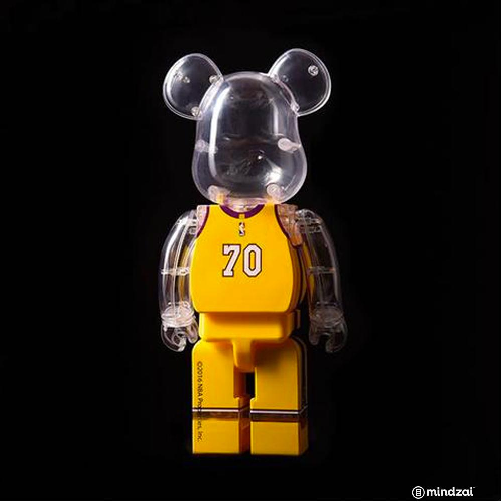 Los Angeles Lakers 400% Bearbrick by NBA x Medicom Toy