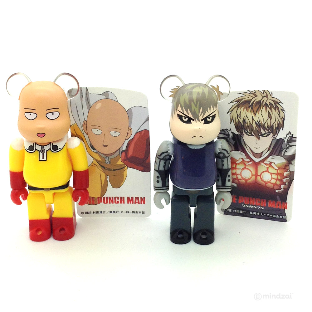 Bearbrick Series 32 -  One Punch Man Set of 2 (Saitama and Genos) [Hero]