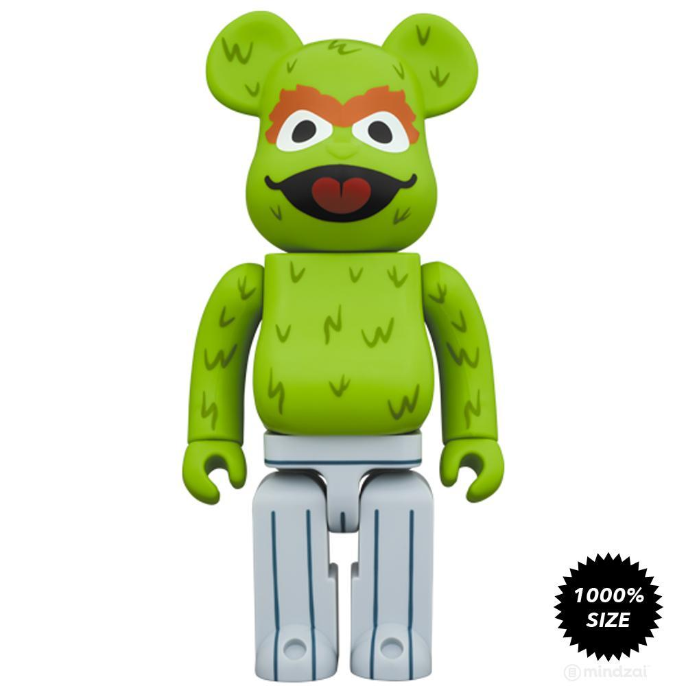 Sesame Street Oscar the Grouch 1000% Bearbrick by Medicom Toy - Pre-order