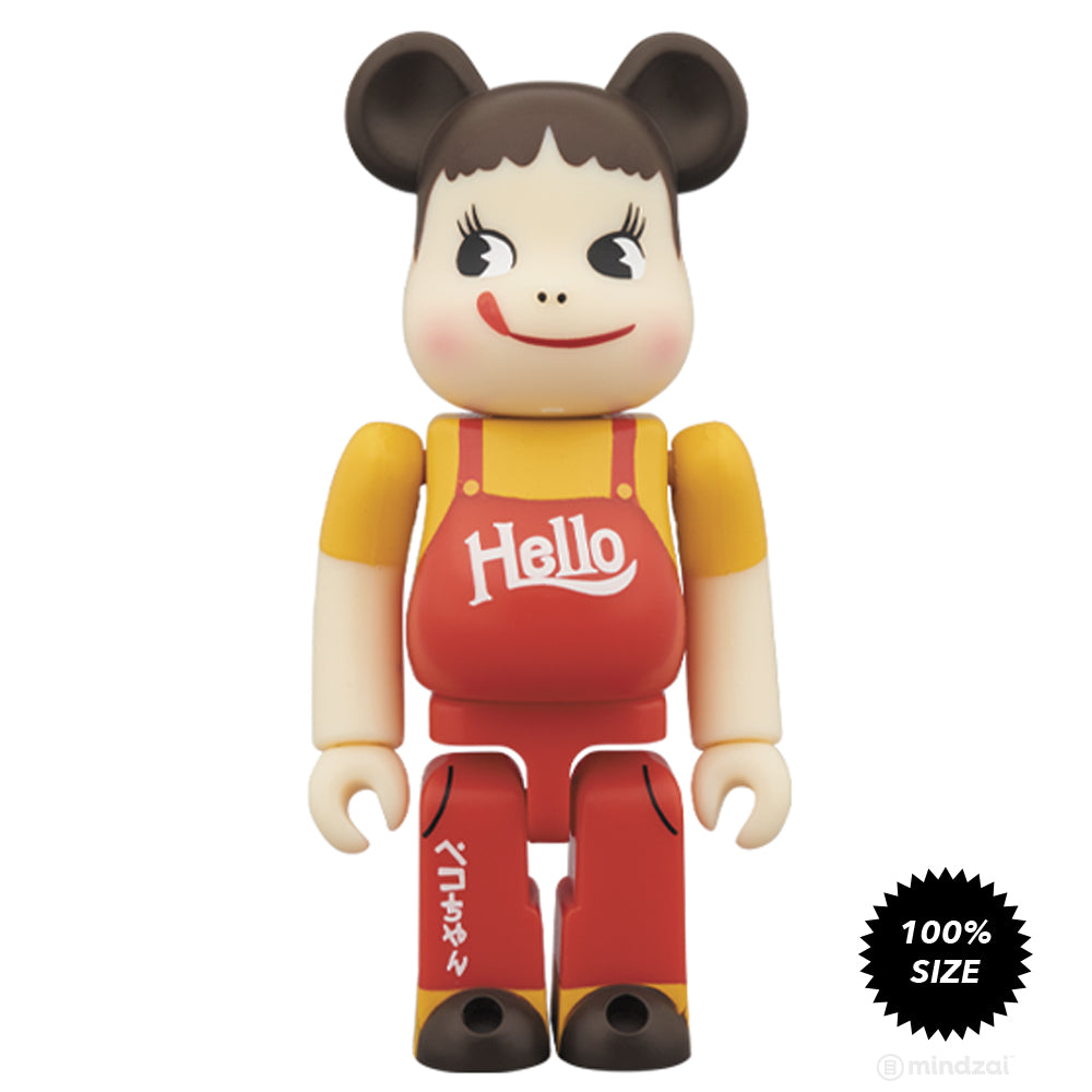 *Pre-order* Peko-chan & Poco-chan Vintage Hello version 2-Pack 100% Bearbrick by Medicom Toy