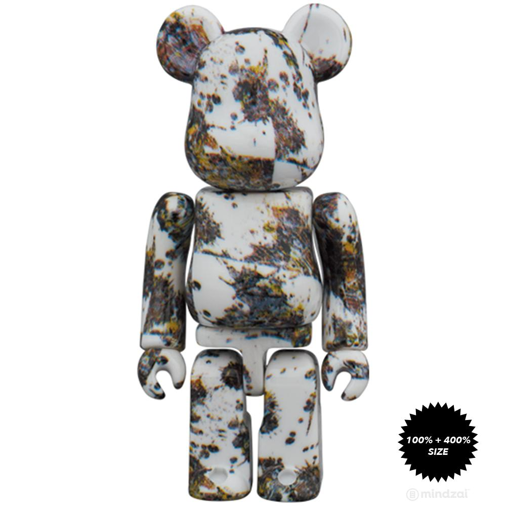 *Pre-order* Jackson Pollock Studio (SPLASH) 100% + 400% Bearbrick Set by Medicom Toy