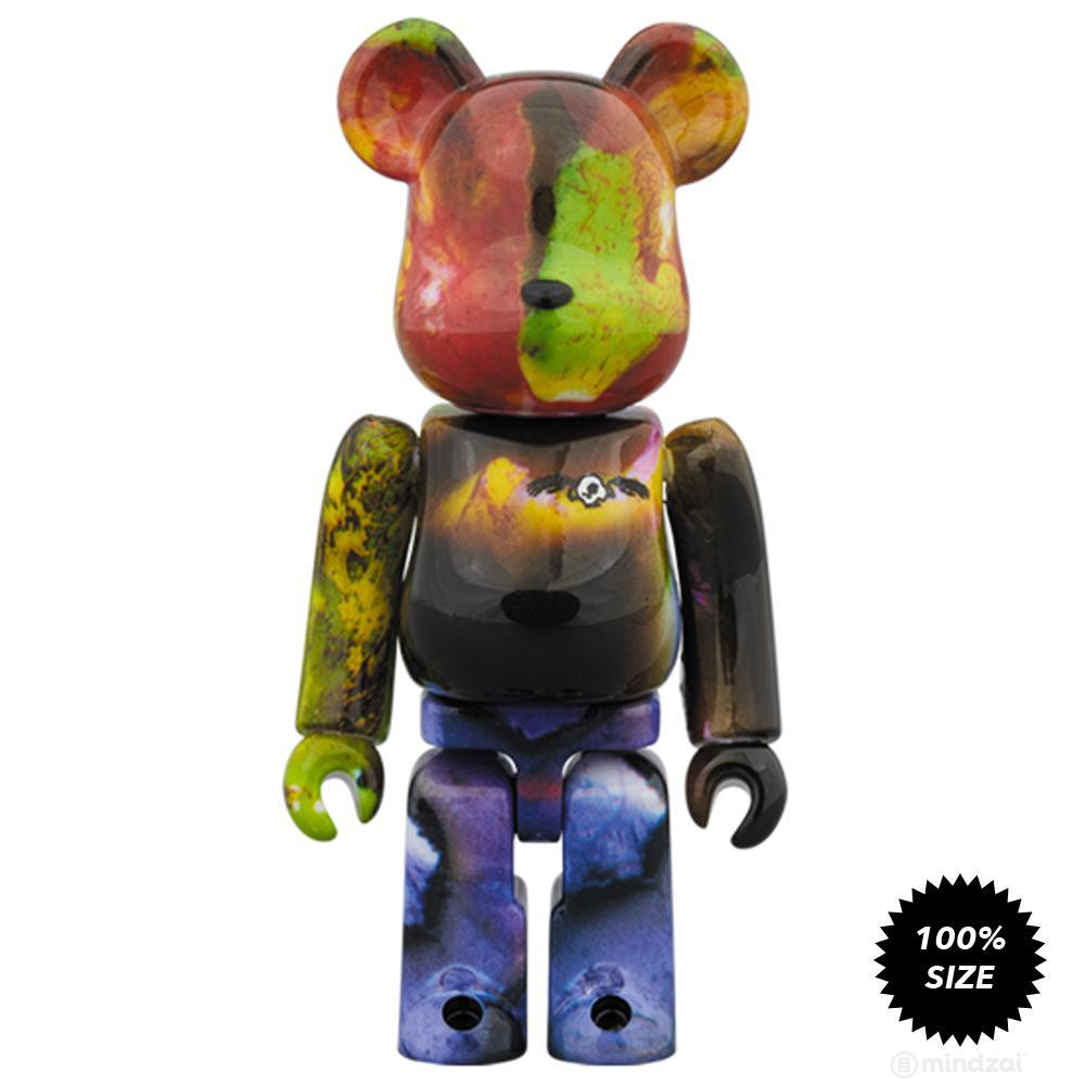 Pushead 3 Different Colours 100% + 400% 4 Piece Bearbrick Set by Medicom Toy