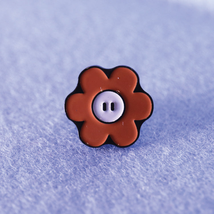 Happy Flower Enamel Pin by Flowerpig