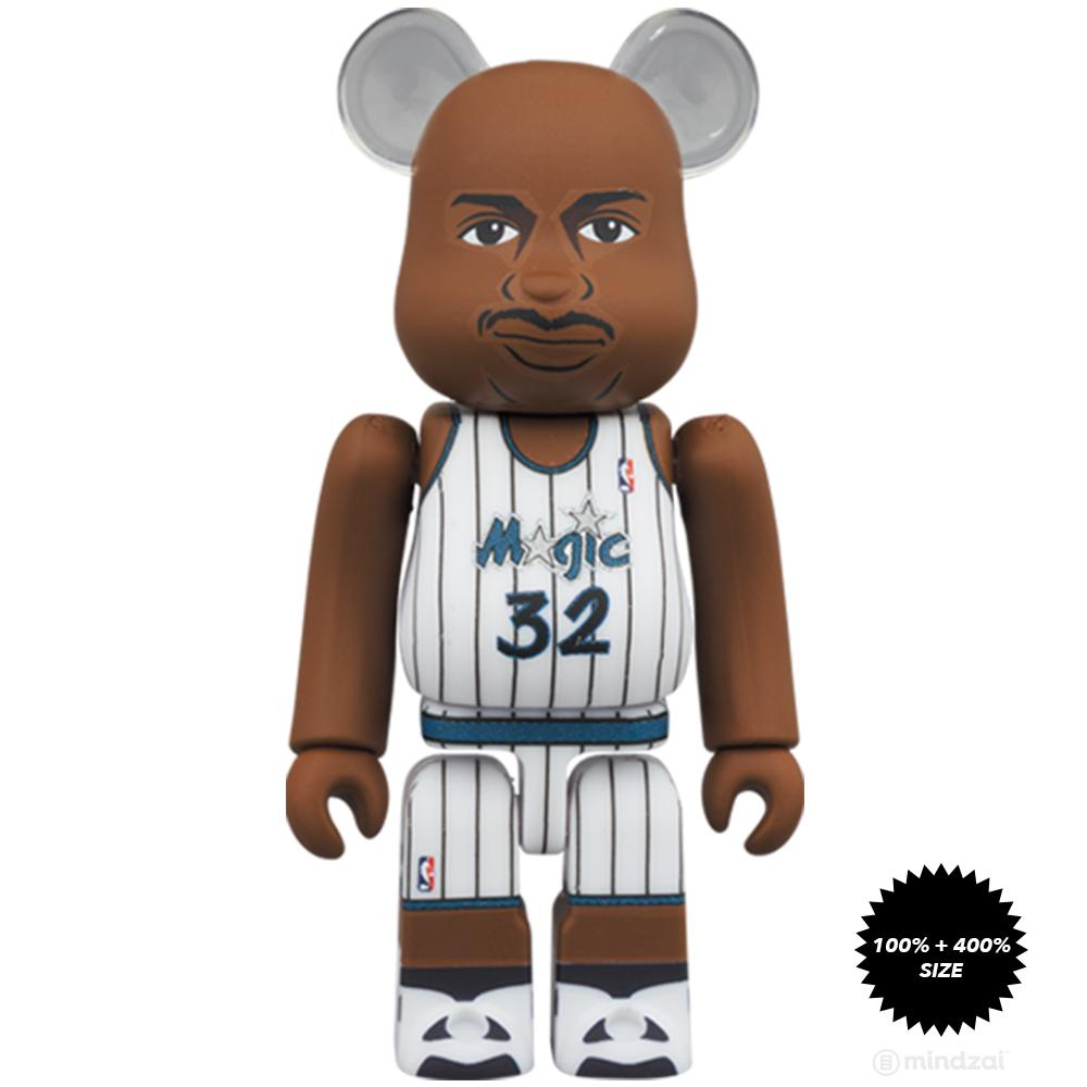 *Pre-order* Shaquille O'Neal (Orlando Magic) 100% + 400% Bearbrick Set by Medicom Toy