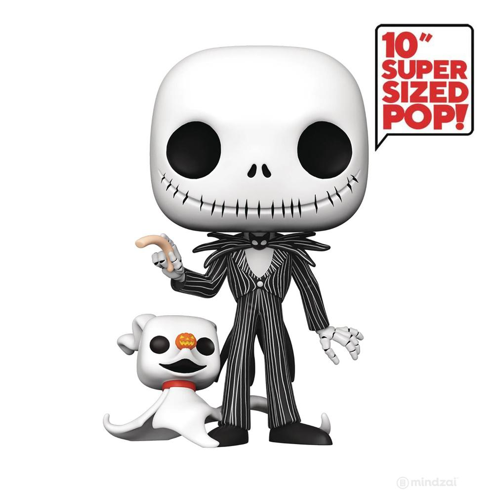 Nightmare Before Christmas Jack Skellington (w/ Zero) 10-inch POP Toy Figure by Funko