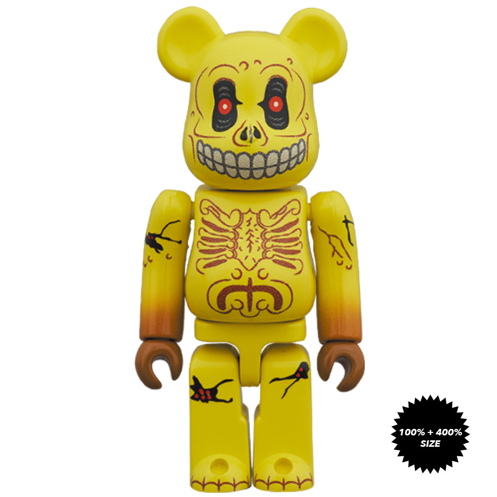 *Pre-order* Skull Face Mad Balls 100% + 400% Bearbrick Set by Medicom Toy