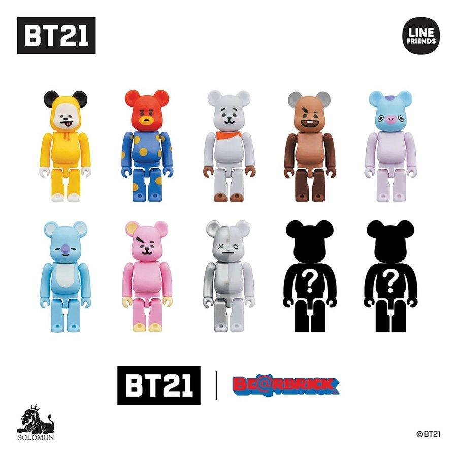 BT21 Limited Edition 100% Bearbrick by Medicom Toy x Line Friends