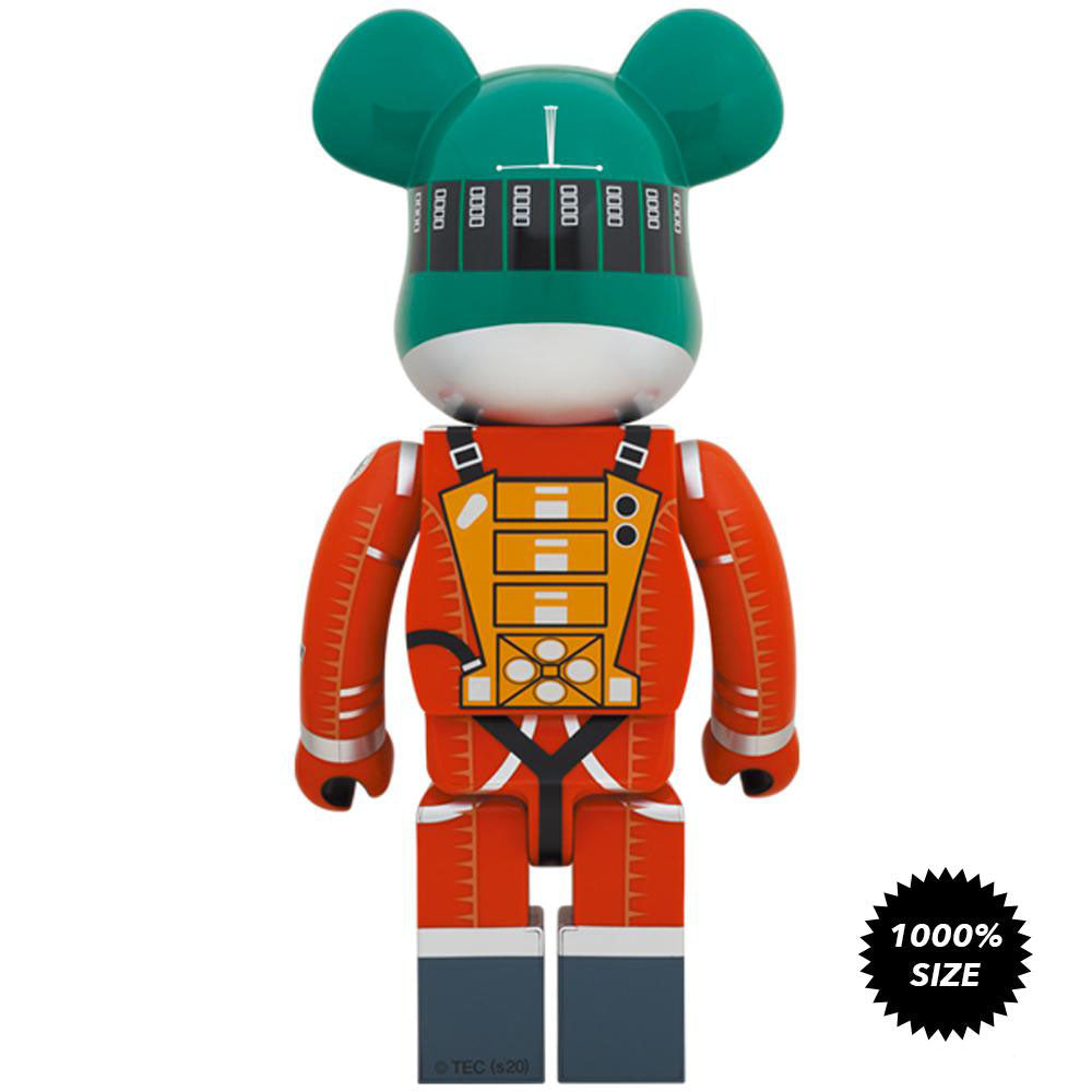 *Pre-order* 2001: A Space Odyssey Green Orange Spacesuit 1000% Bearbrick by Medicom Toy